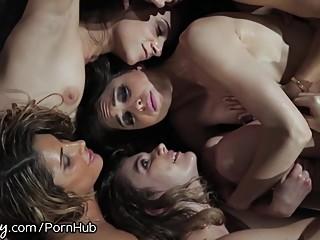 Girlsway Riley Reid's Intense Lesbian Orgy