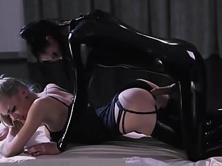 Lesbian Latex Dildo