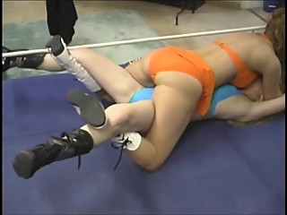 Sophie vs Alex and Ariel vs Jenn erotic Wrestling