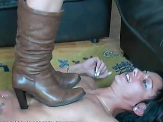 Hard Lesbian Boots Trample