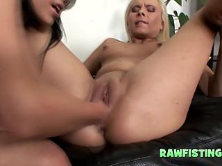 Three lesbian cops fistuck babes tight asshole 2