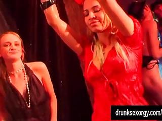 Sexy pornstars dancing wet