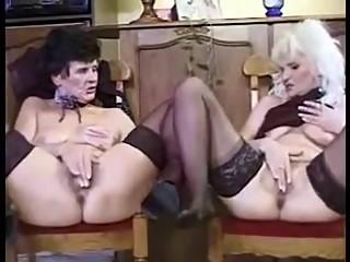 Granny lesbians have sex