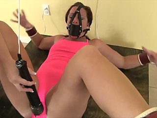 Fayth On Fire Teased and Denied by Chubby Domme and Hanging Wand