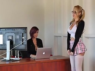 Hot lesbian teacher and her beautifull student