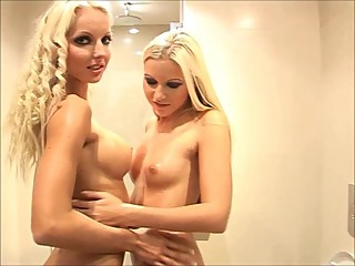 Jana & Veronika Sensual Touch In Bathroom