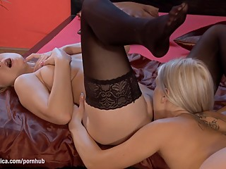 Blonde Banquet by Sapphic Erotica - lesbian love porn with Jolie - Generosa