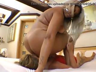 BBW Facesitting and Smothering Tiny Girl