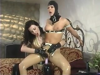 2 lesbians in rubber