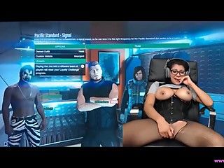 Big Titty GamerGirl Plays PS4 While Trying Not to Cum