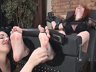 Long Lesbian Soles Tickled