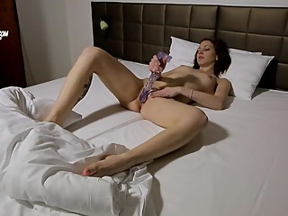 Candy Sweet masturbates after waking up in the morning