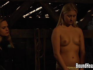 Innocent Blonde Slave Inspected On Her Arrival