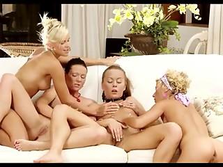 sexy lesbian orgy