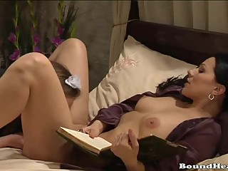 Slave caught by mistress in the bed