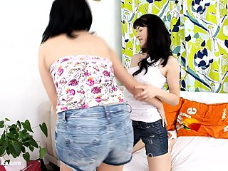 Posterior Play by Sapphic Erotica - lesbian love porn with