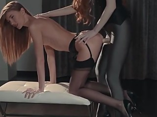 Nylons & strapless dildo