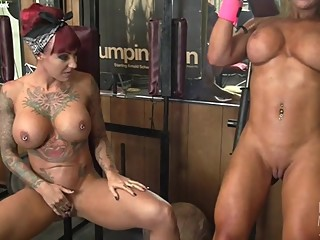 Dani Andrews and Megan Avalon Muscle Lesbians
