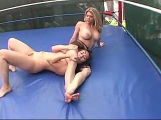 Big Boobs vs Small Wrestling Himiliation