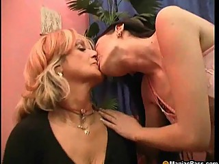 Old and young dildo play