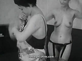 Mature and Granny Lesbians in Bed (1950s Vintage)