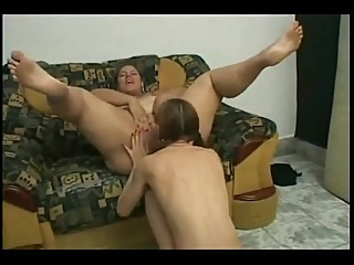 Horny Fat BBW Latina getting her pusssy licked by her GF