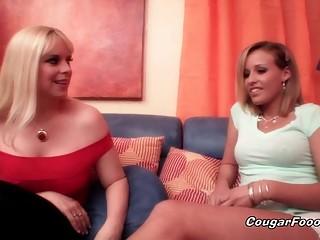 Hot cougar seduces amazing babe