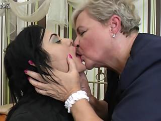 Kinky granny fucks sweet girl