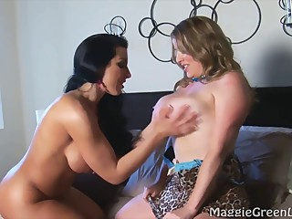 Brianna Pleasures Maggie In Busty Girl on Girl!
