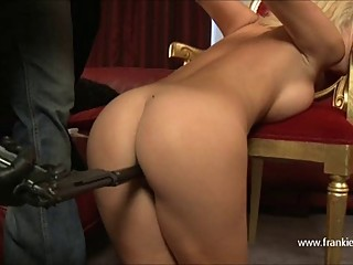 Horny lesbian strips busty babe and fucks pussy and mouth