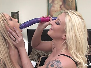 Payton West & Leya Falcon play with some toys