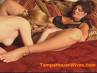 Milf wife fucks her BABE Girlfriend