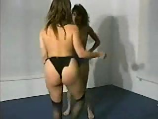 Topless Mat Wrestling