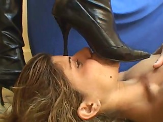 Lesbian Trample in High Heeled Boots