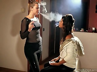 GIRLS SMOKING SLOW MOTION