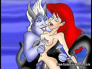 Mermaid Ariel hentai orgies